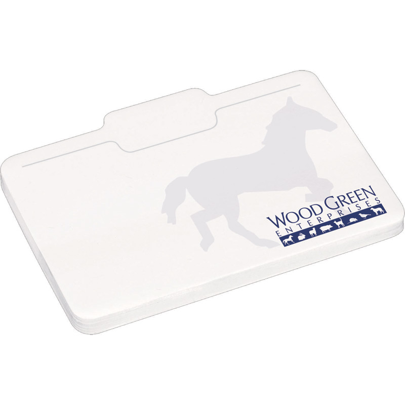 "4"" x 3"" Die Cut Adhesive Notepad - Briefcase"