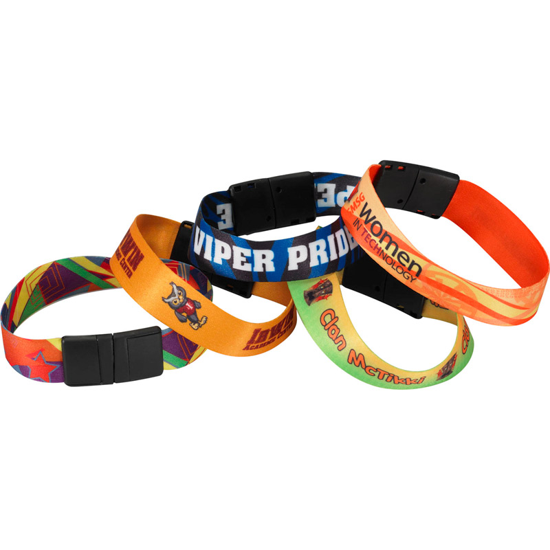 "3/4"" Sublimated Heavy Weight Satin Wristband"