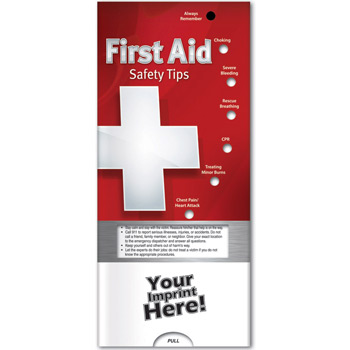 Pocket Slider - First Aid: Safety Tips