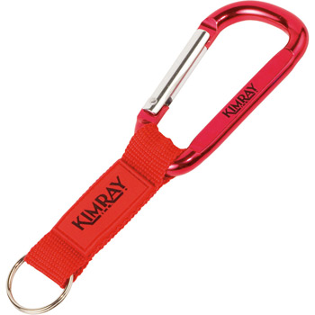 Key Tag Carabiner with Strap and Raised Rubber Patch