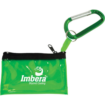 Carabiner with Key Tag Pouch