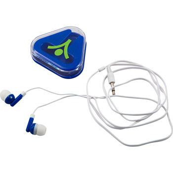 Ear Buds in Triangular Case