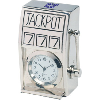 Die Cast Slot Machine Clock