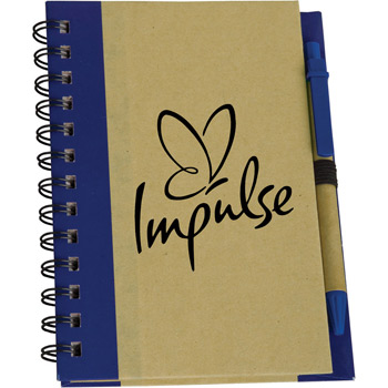 Eco Spiral Notebook with Eco Paper Barrel Pen