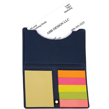Business Card Holder with Sticky Notes