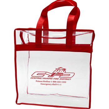 Clear PVC Zipper Tote