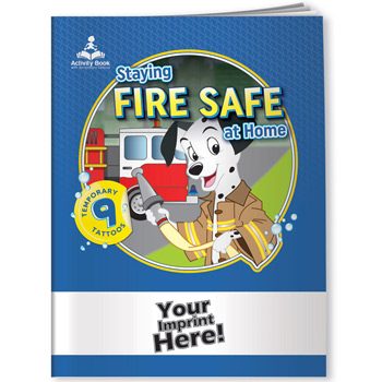 Activity Book w/ Temporary Tattoos - Staying Fire Safe at Home