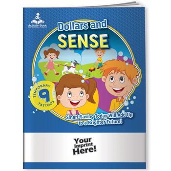 Activity Book w/ Temporary Tattoos - Dollars and Sense