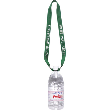 "1"" One Ply Cotton Lanyard with Rubber O-Ring Bottle Holder"