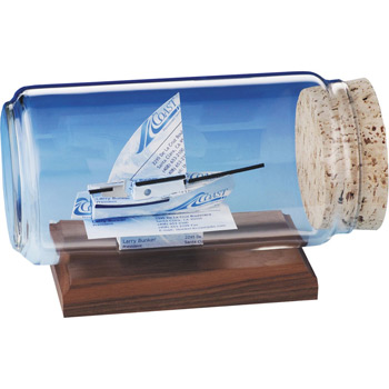 Business Card Sculpture - Sloop Sail Boat
