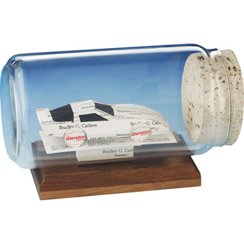 Business Card Sculpture - Race Car