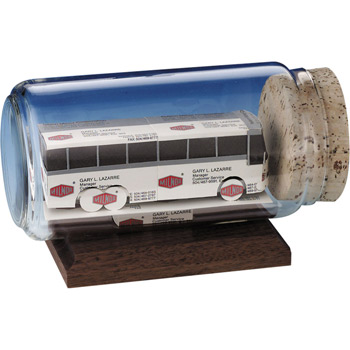 Bus Business Card Sculpture