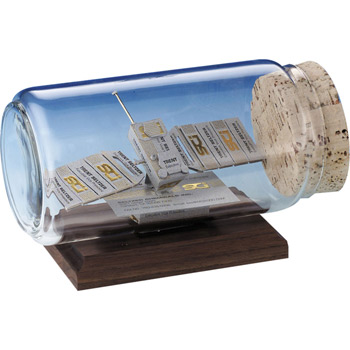 Communication Satellite Business Card Sculpture