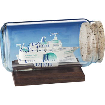 Cruise Ship Business Card Sculpture