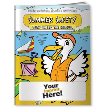 Coloring Book - Summer Safety with Sunny the Seagull