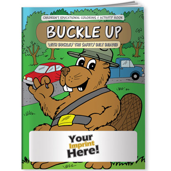 Coloring Book - Buckle Up with Buckley the Safety Belt Beaver