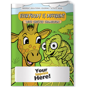 Coloring Book - Differences, Everybody is Different with Chester Chameleon