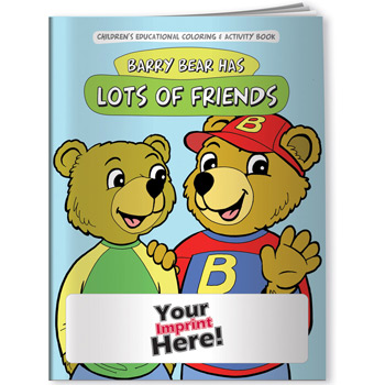 Coloring Book - Barry Bear Has Lots of Friends