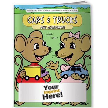 Coloring Book - Cars and Trucks Are Awesome!