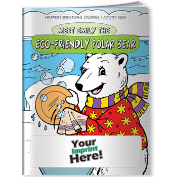 Coloring Book - Eco-Friendly Polar Bear