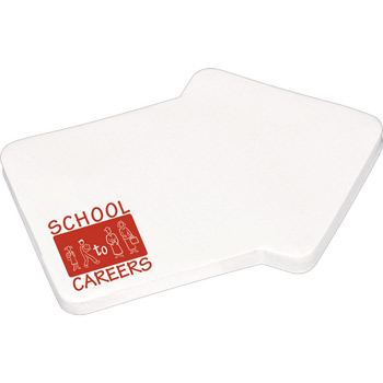 "4"" x 3"" Die Cut Adhesive Notepad - Arrow"