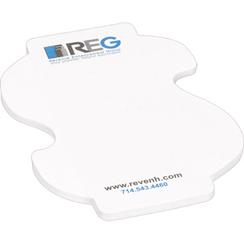 "4"" x 3"" Die Cut Adhesive Notepad - Dollar Sign"