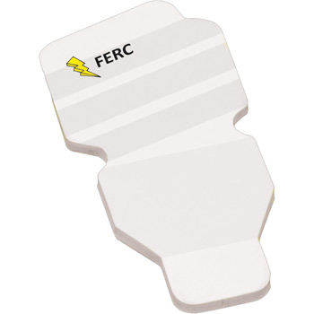 "4"" x 3"" Die Cut Adhesive Notepad - Fluorescent Bulb"
