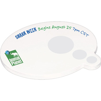 "4"" x 3"" Die Cut Adhesive Notepad - Speech Bubble"