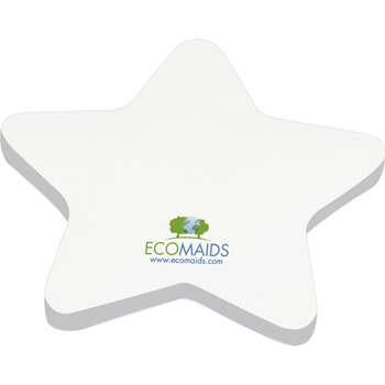 "4"" x 4"" Die Cut Adhesive Notepad - Star"