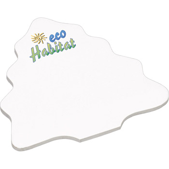 "4"" x 4"" Die Cut Adhesive Notepad - Tree"