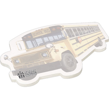 "4"" X 6"" Die Cut Adhesive Notepad - Bus"