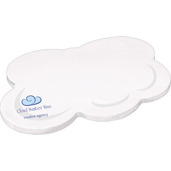 "4"" X 6"" Die Cut Adhesive Notepad - Cloud"