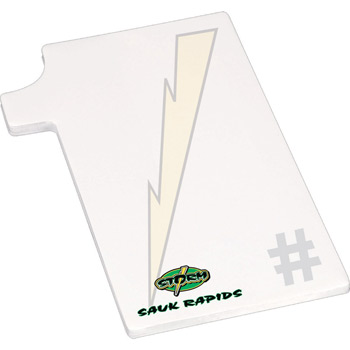 "4"" X 6"" Die Cut Adhesive Notepad - Number One"