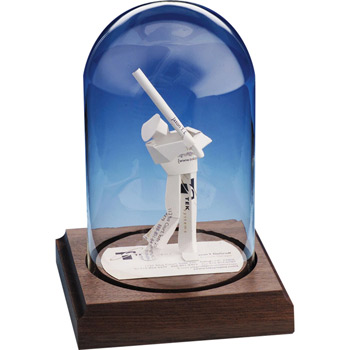Business Card Sculpture - Baseball Player