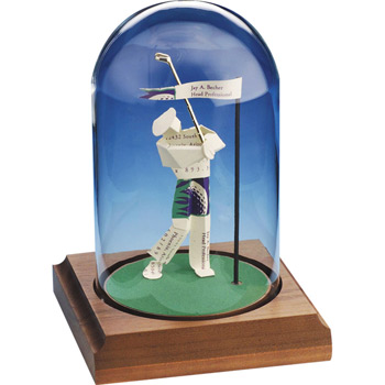 Closest To The Pin Business Card Sculpture