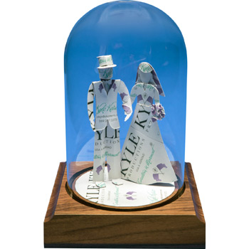 Business Card Sculpture - Bride & Groom