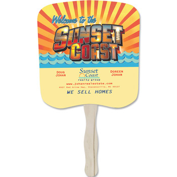 Stock Shape Hand Fan