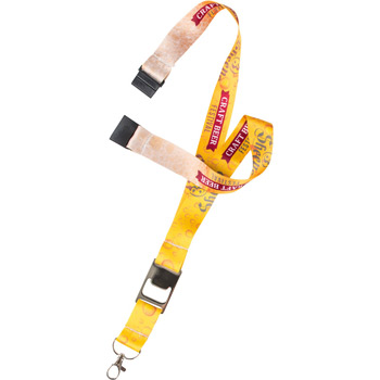 "1"" Heavy Weight Satin Lanyard with Metal Bottle Opener"