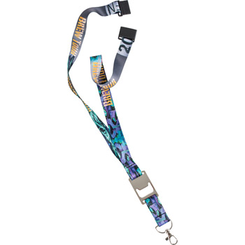 "3/4"" Heavy Weight Satin Lanyard with Metal Bottle Opener"