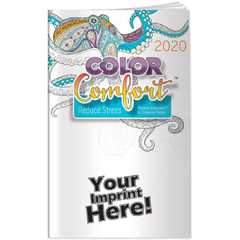 Pocket Calendar - 2020 Reducing Stress Color Comfort