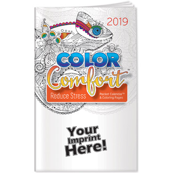 Pocket Calendar - 2019 Reducing Stress Color Comfort