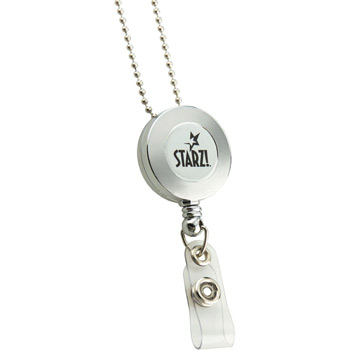 Retractable Badge Reel Silver