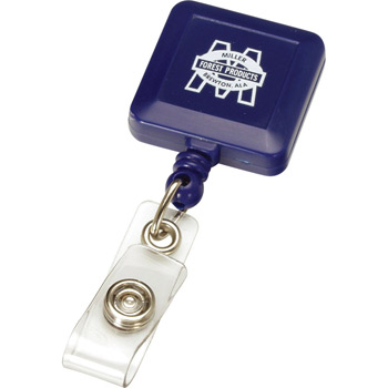 Retractable Badge Reel Square Metal