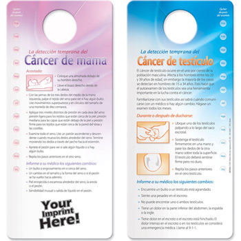 Shower Card - Early Detection for Breast / Testicular Cancer (Spanish)