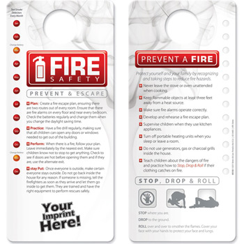 Hang Tag - Fire Safety