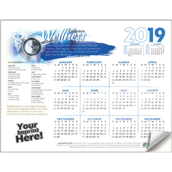Adhesive Wall Calendar - 2019 Embrace Wellness (Medical)