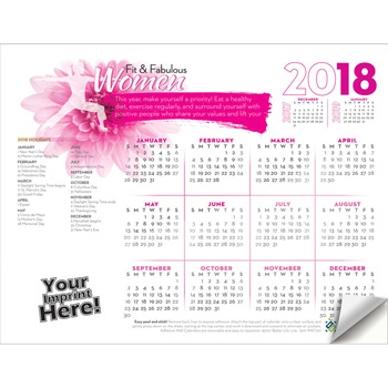 Adhesive Wall Calendar - 2018 Fit & Fabulous Women (Women's Health)