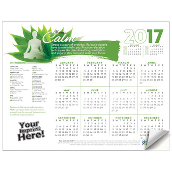 Adhesive Wall Calendar - 2017 Keep Calm (Stress)